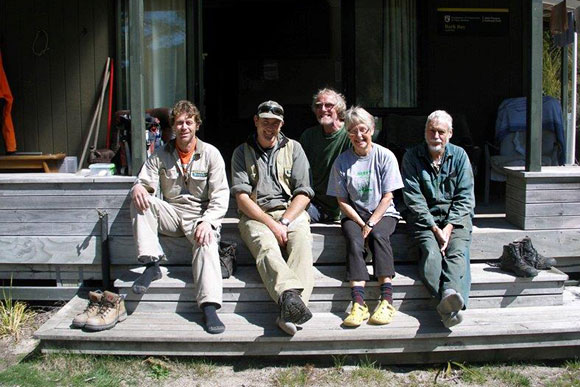 Bark Bay Hut volunteers.