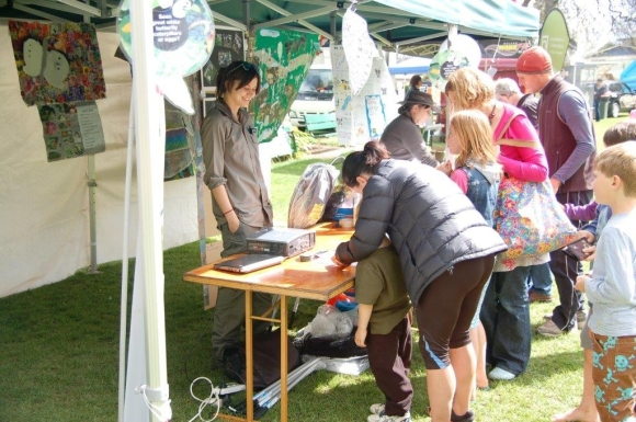 The Great White Butterfly Eradication stall at the Sunday Fun Day in spring 2014.