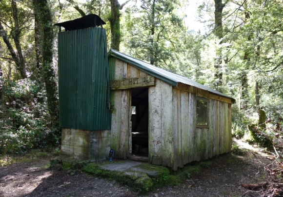 The historic Cone Hut in Tararua Forest. Photo: Beverley Bacon.