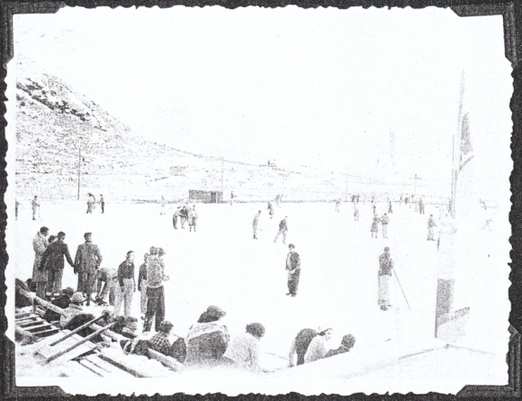 The rink in 1938. Photo: Ashburton Museum, Jordan album.