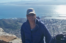 Diane Oliver on Table Mountain.