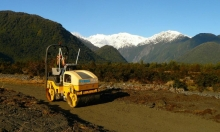 Franz Hire roller on the new Tarere Stream track.