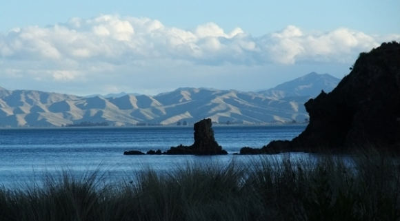The view from Whites Bay in Tasman Bay.