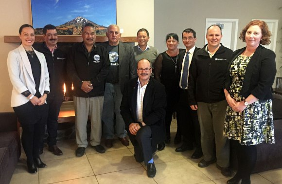 The meeting with Taranaki iwi was held at Mountain House, owned and operated by Ngāti Ruanaui.