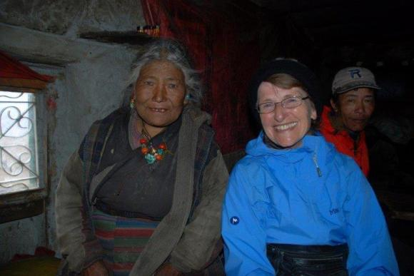 Uta Purcell visiting the Himalayas in 2009.