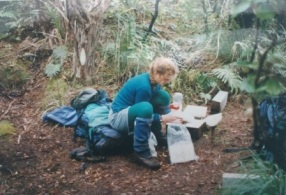 Davina Hunt on Codfish Island in 1995.