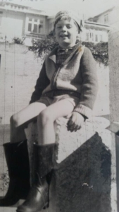 Bruce Parkes as a child in the Hawke's Bay.