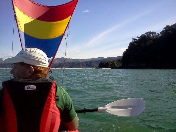 Bruce kayaking in Abel Tasman National Park.