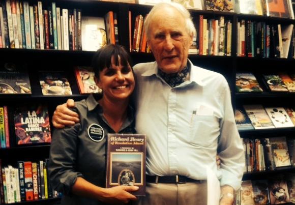 Nicola Toki with author John Hill.