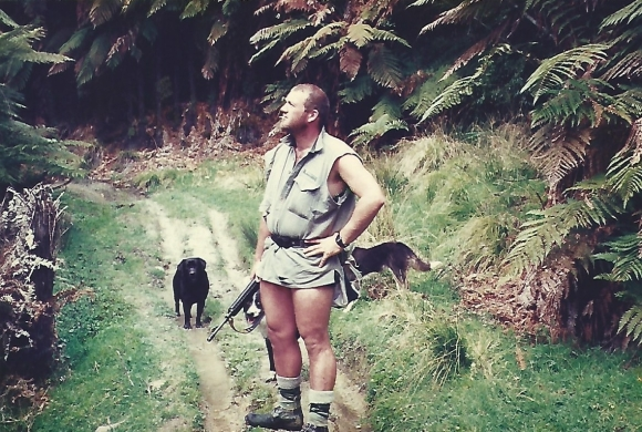 Ted Dorrian, hunting for DOC in Ruahine Forest Park.
