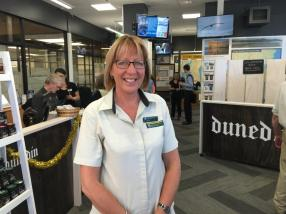 Karen Connor at the new Dunedin Visitor Centre.