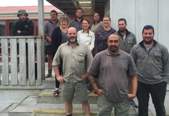 Our DOC Chatham Islands Team.