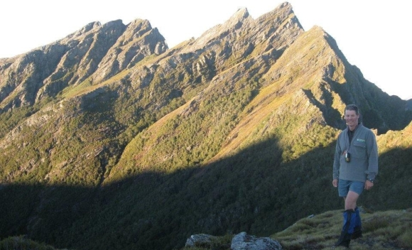 Gareth and the Dragons Teeth while tramping the Douglas Range.