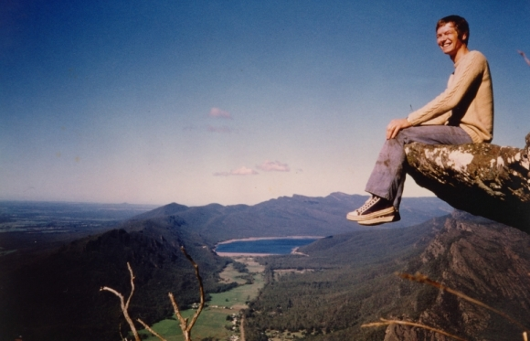 Trevor enjoying the view in the Grampians, Victoria.1972.