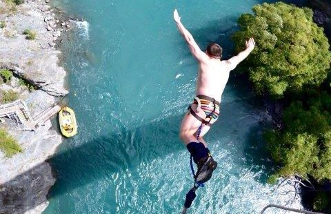 Paul McGee bungy jumping.