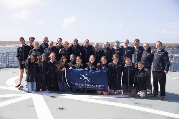 The whole crew on the flight deck before our final day. Photo by Brendon O'Hagan.