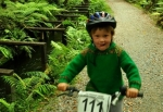 Biking around Lake Kaniere water race,