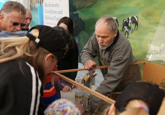 Dave on duty at Mystery Creek Fieldays. Photo: Bruce Postill.