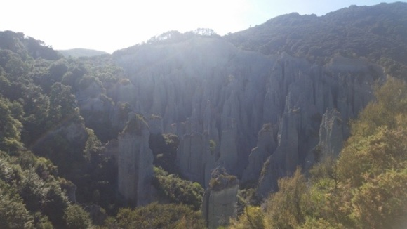The Pinnacles as viewed from the ridge line lookout.