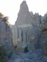 The Pinnacles viewed from the stream bed.