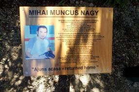 Mihai Muncus Nagy plaque.