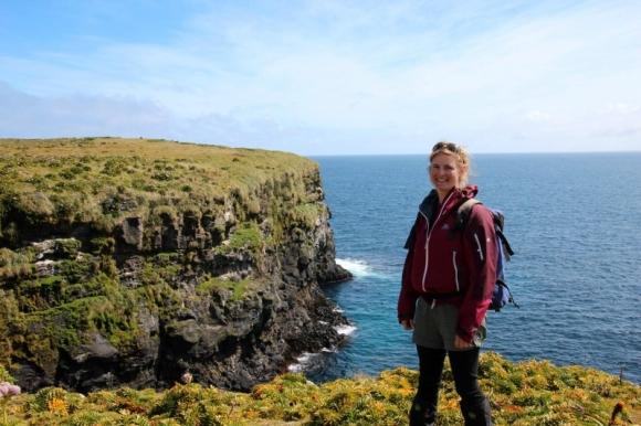Jen in Paradise, Enderby Island.