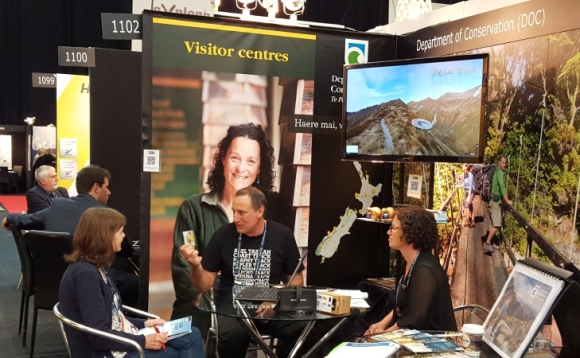 DOC at the TRENZ tradeshow in Rotorua.