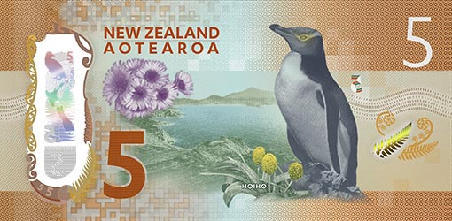 The new $5 banknote. Image: Reserve Bank of New Zealand.
