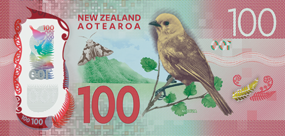 The new $100 banknote. Image: Reserve Bank of New Zealand.