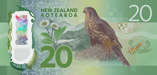 The new $20 banknote. Photo: Reserve Bank of New Zealand