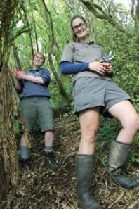 DOC ranger Emma Bardsley and volunteer Emma Longmore.