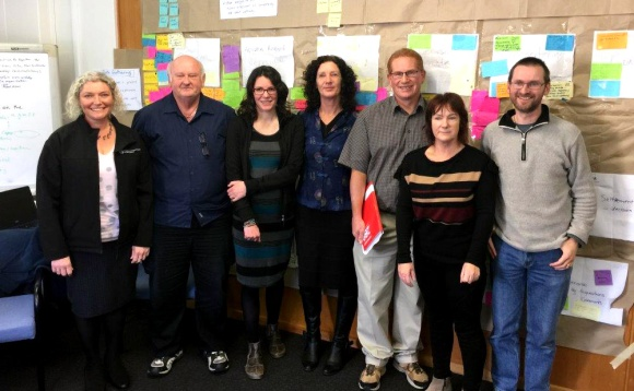 The Statutory Processes Improvement Team, from left: Vicki Crosbie, Ron Hazeldine, Julie Buunk, Kath Inwood, Bruce Vander Lee, Judi Brennan, Lionel Solly. Team members not pictured: Janine Sidery, Jo Gould and Mark Townsend.
