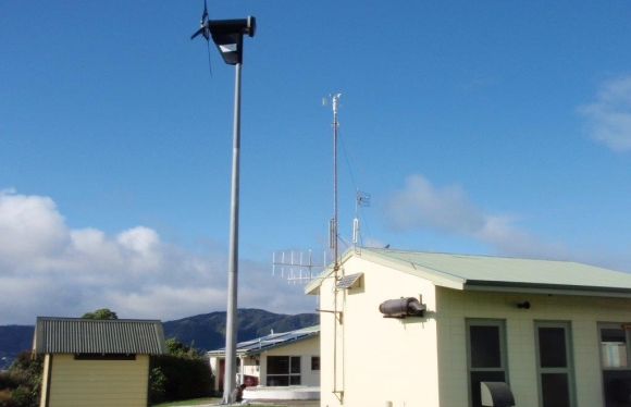 Renewable energy system on Matiu/Somes Island.