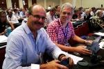 Lou Sanson with NZCA representative Mark Christensen at the IUCN Congress.