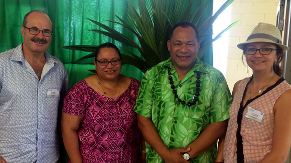 Three D-Gs! From left: Lou Sanson; Dr Josie Tamate, Director-General of Natural Resources, Government of Niue; Kosi Latu, Director-General of SPREP; Huia Lloyd.