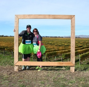 Suzie Breeze and I at the Vineyard Half Marathon in May 2016
