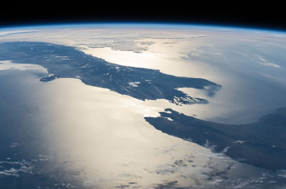Top of the South Island from space. Image: ©NASA
