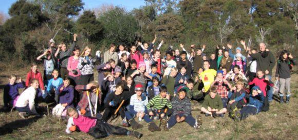 Hilltop School Weedbusters.