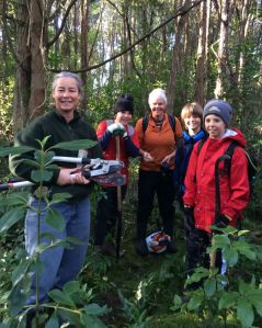 Local Weedbusters Karen Ardin and Shirley Potter inspired to join in.