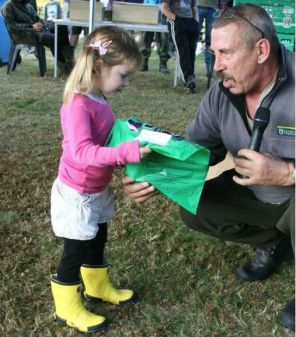 Prizegiving at the Pureora hunting competition.