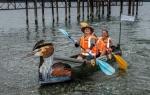 DOC's cardboard boat. Photo: Topby Jones.