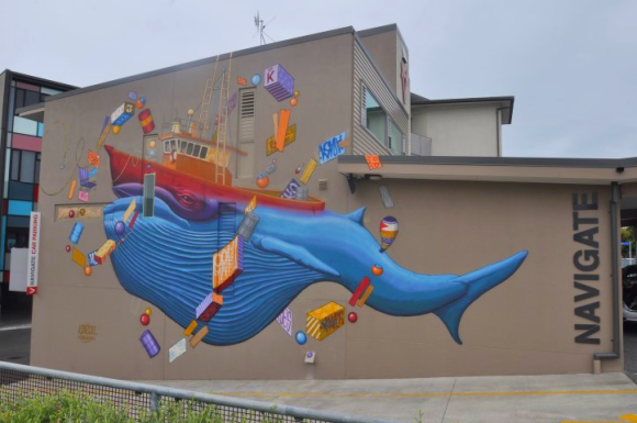 Join a tour of Napier's sea-themed public artwork.