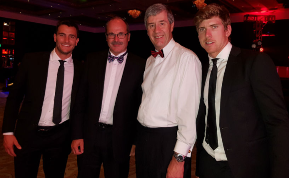 Blair Tuke, Lou Sanson, Alistair Davis (CEO Toyota NZ), and Peter Burling.