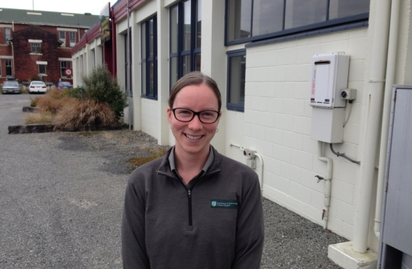 Michelle Lambert, one of our most recent employees in Hokitika.