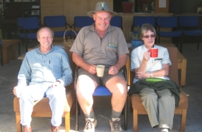 Ranger Paul Davidson 30 years later with Ian Wightwick and Faye Gordon.