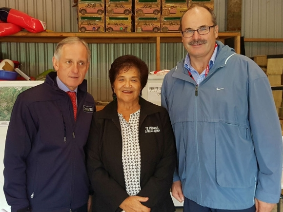 Meeting with the Myrtle Rust Iwi liaison group. From left: Martyn Dunne - MPI CEO, Nora Rameka - Te Rūnanga o Ngāti Rehia and Lou Sanson.