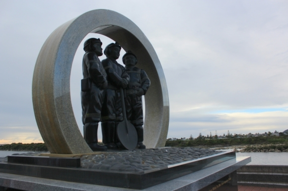 West Coast coal mining incidents memorial.