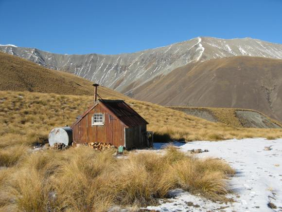 Camp Stream Hut, Lake Tekapo, Canterbury. Photo: Brian Dobbie.