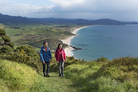 Coastal views on Te Whara Track.