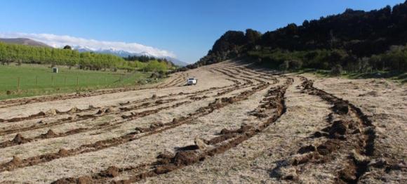 Practicing our alien crop circles at Dale Farm near Te Anau. 📷: Mark Sutton.